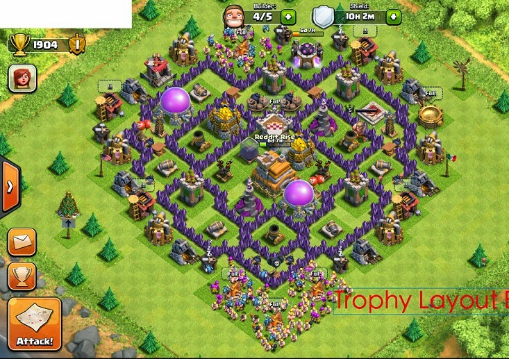 Best th7 defense base clash of clans war 40chienmingwang com