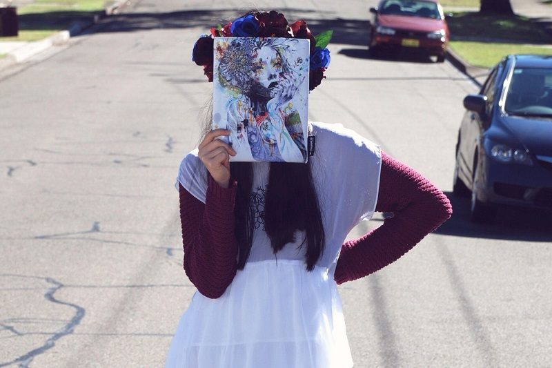 casperandpearl, missunkon, casper&pearl, P&P Crowns, Snupped, DIY floral crown, floral garland, street style, personal style, TeenVogue
