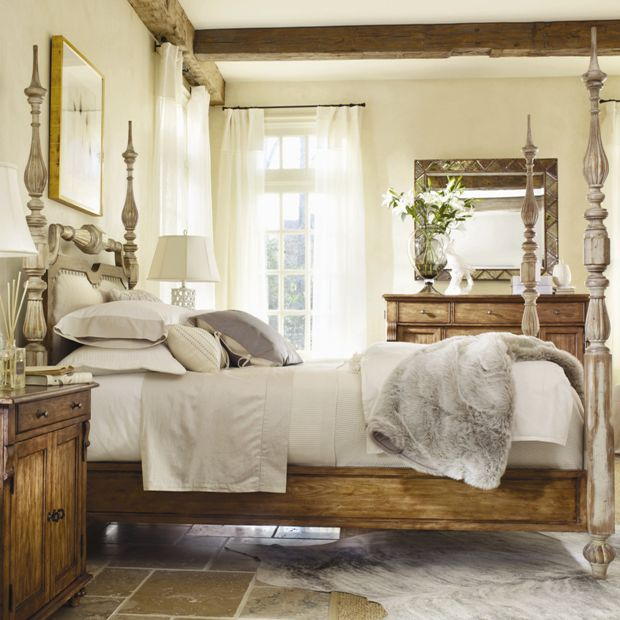 Classic and traditional bedroom interior design and furniture set by
