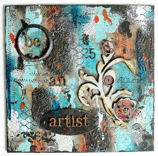 how to use deco art crackle paint