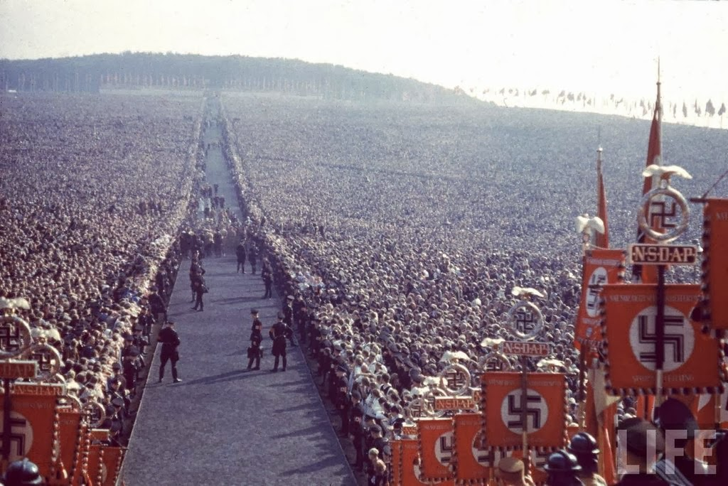 Nazi rally at Nuremberg in 1937.