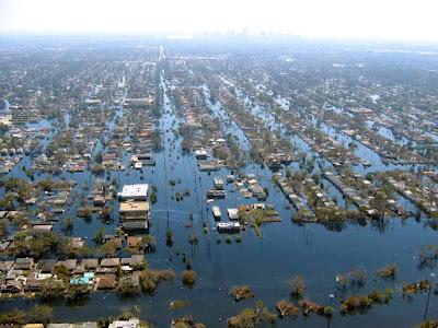 Hurricane Katrina damage led to a mass exodus of people in Louisiana