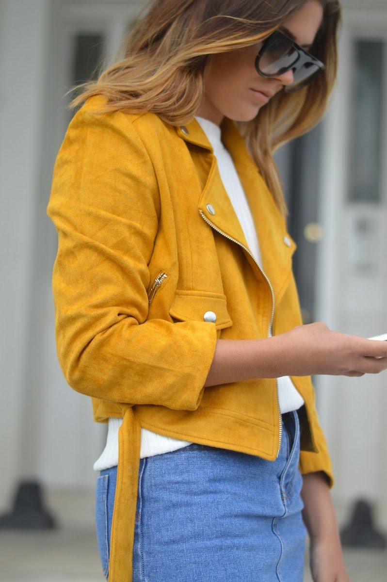 MUSTARD SUEDE JACKET | A FASHION FIX // UK FASHION AND LIFESTYLE BLOG
