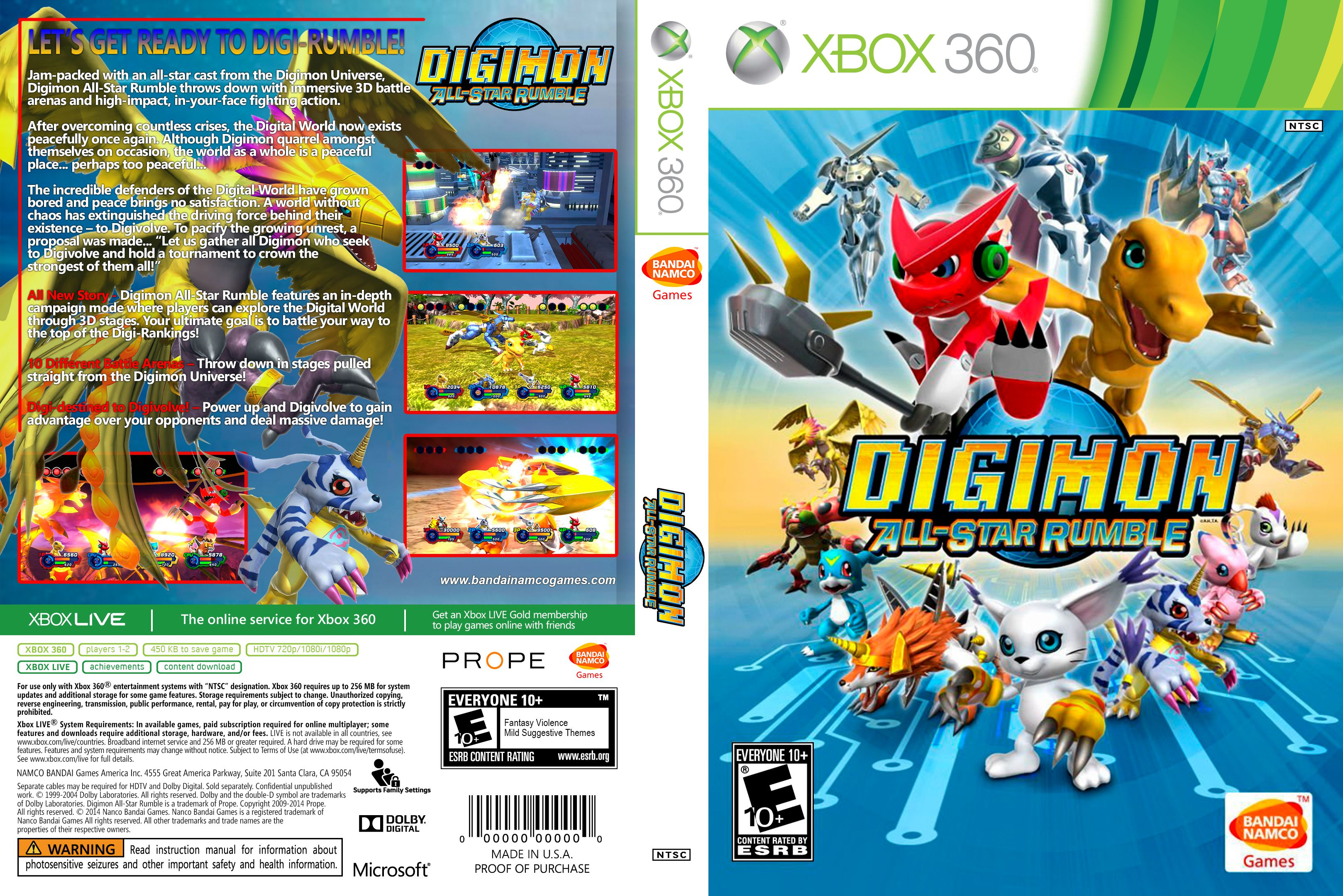 Capa Digimon All Star Rumble Xbox 360