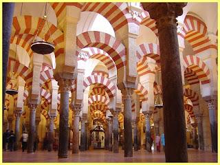 Famosos arcos de la Mezquita de Córdoba