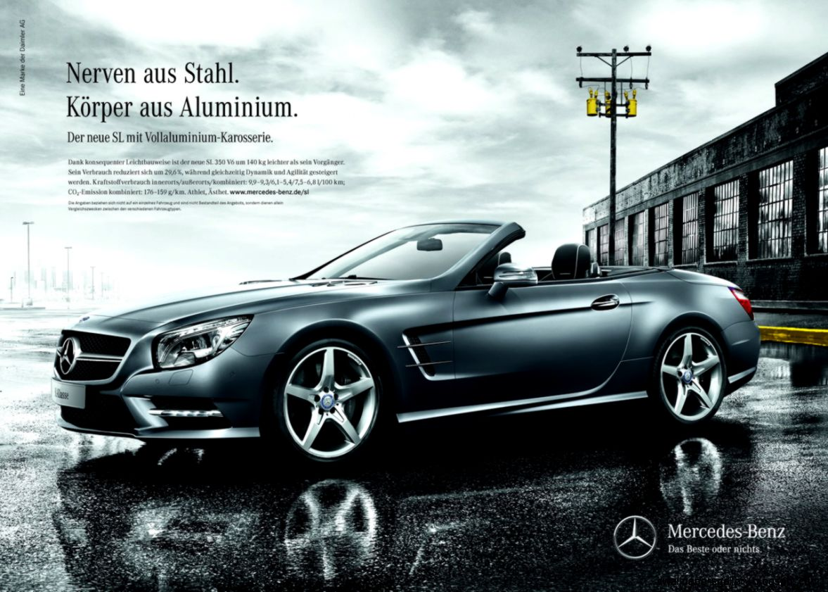 Luxury Car Print Ads  Mohawk Haircut Collections