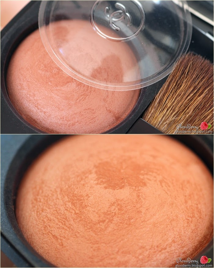 סמקים - Le Blush Creme De Chanel, Joues Contraste orchid rose 63 revelation סומק אבקה קרם שאנל chanel coral pink swatch review