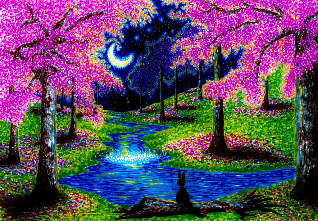 09-Wish-Upon-a-Star-XBUDDYFORME-Modern-Impressionist-Style-Applied-to-Vivid-Drawings-www-designstack-co