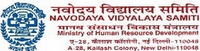 Navodaya Teacher Recruitment 2012 Notification Forms Eligibility