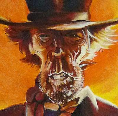 Caricature de Clint Eastwood - affiche Pale Rider