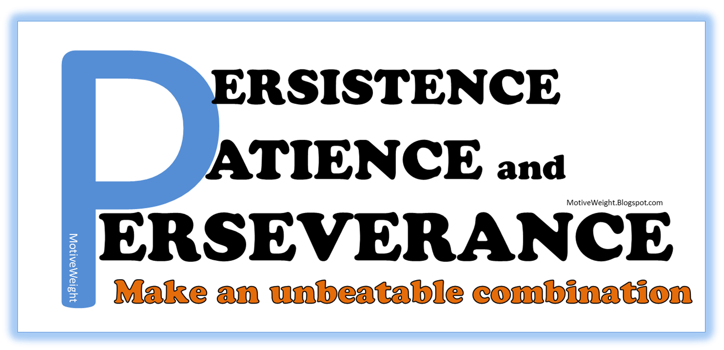motiveweight persistence patience and perseverance persistence patience and perseverance