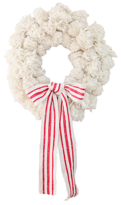 Wool Wreath from Anthropologie - Styled on Dreamy Whites