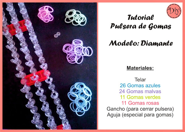Pulsera Gomas modelo Diamond Tutorial Diy