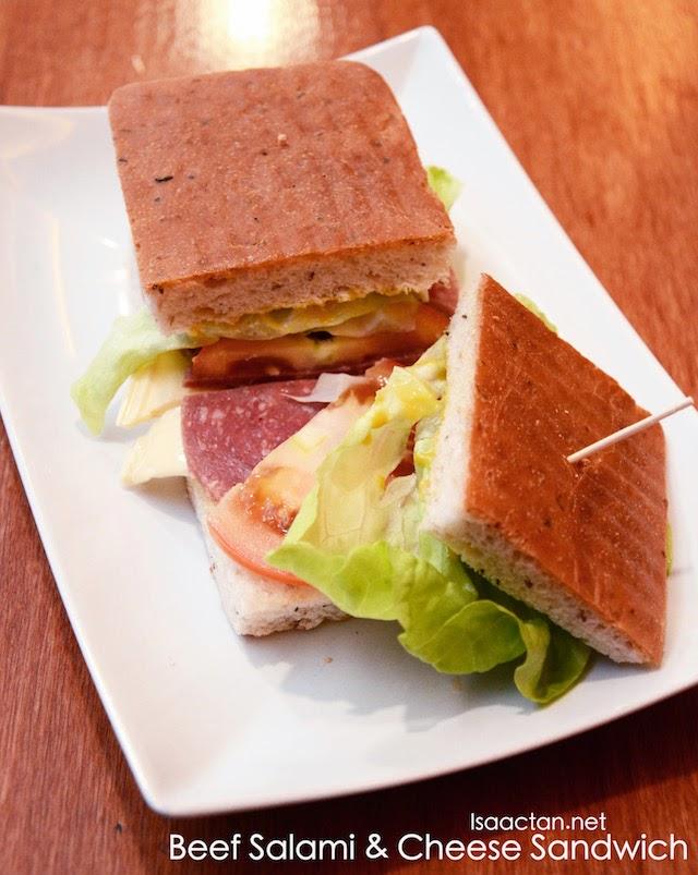 Beef Salami & Cheese Sandwich - RM11