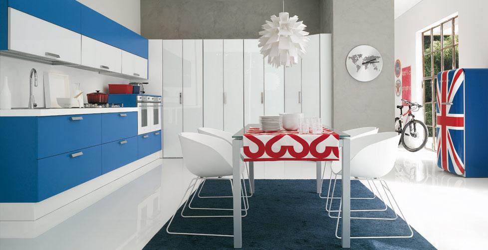 Dise os para gente atrevida cocinas con estilo ideas para dise ar tu cocina - Cocinas azules y blancas ...