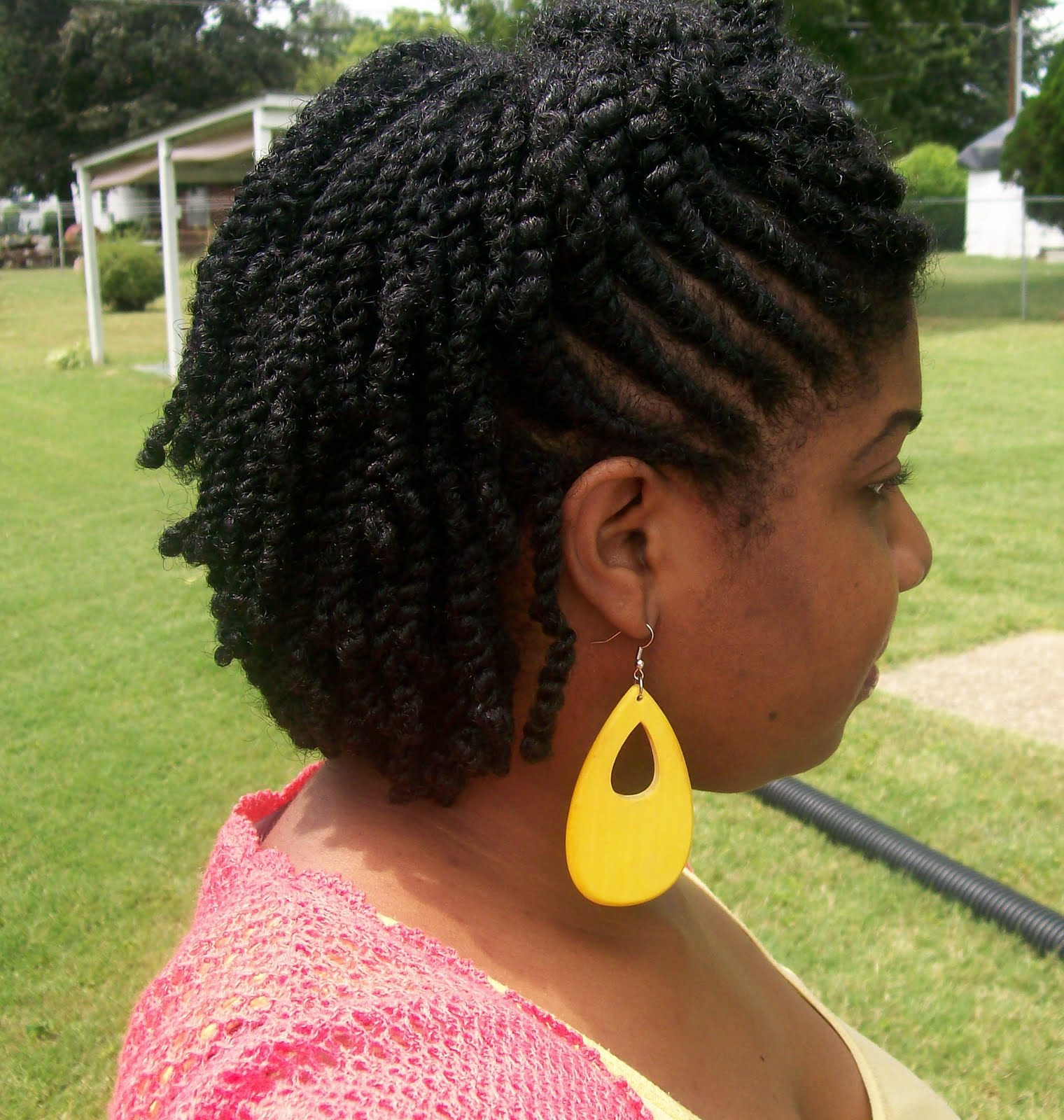 Swirled flat twists with mini twists vid amp pics