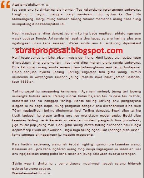 Contoh Naskah Pidato Bahasa Sunda Tema Kebudayaan