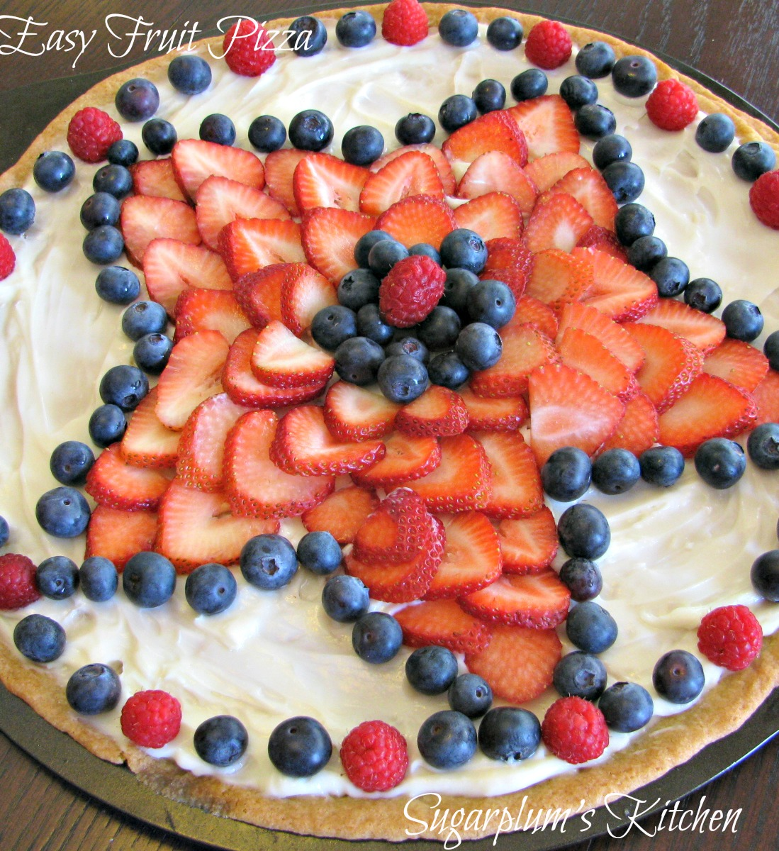 this fruit pizza is so yummy and is so easy to make i have made this a ...
