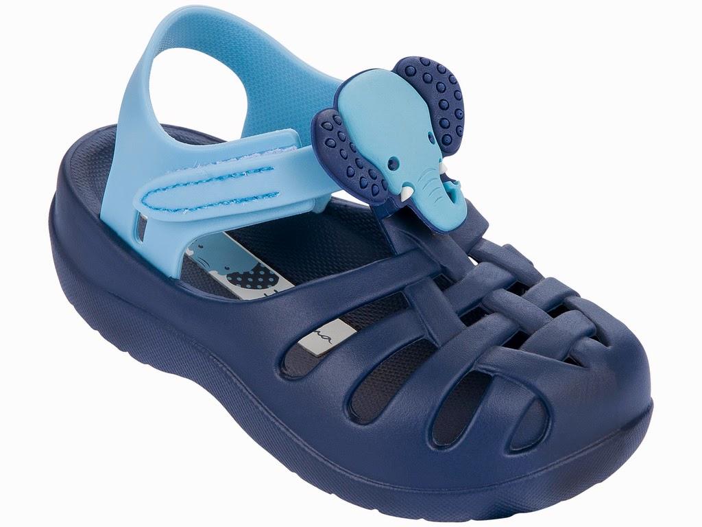 Ipanema Sandalen Summer für Babys und Kinder ohne Zehensteg blau