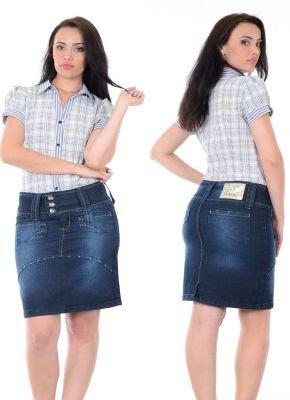 Modelos de Saias Jeans da Moda Evangélica