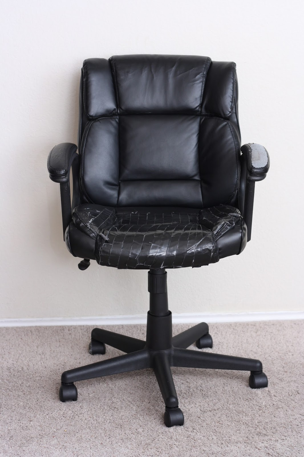 Crafty Allie: DIY: How to recover a rolling desk chair