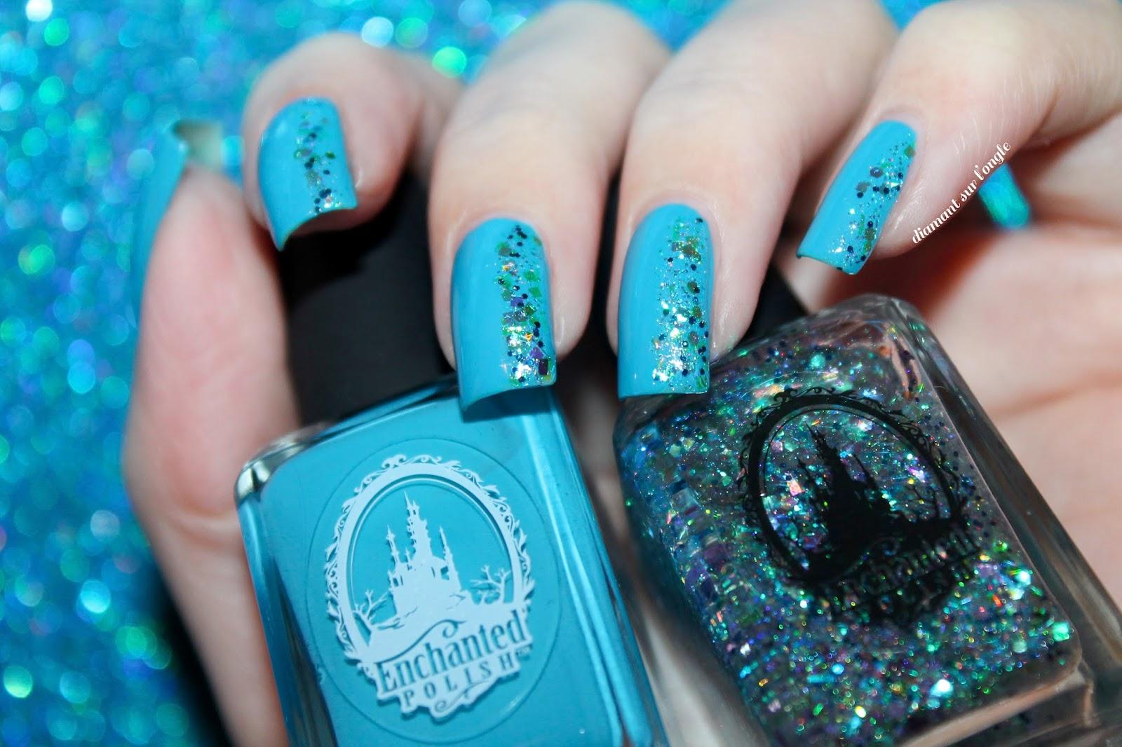 Diamant sur l 39 ongle galette des rois famille royale et bleu royal - Nail art bleu ...