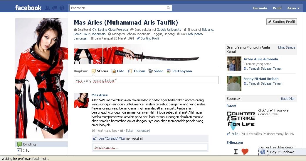 Cara Membuat Profil FB Keren dengan Photoshop (Foto Profil menyambung ...