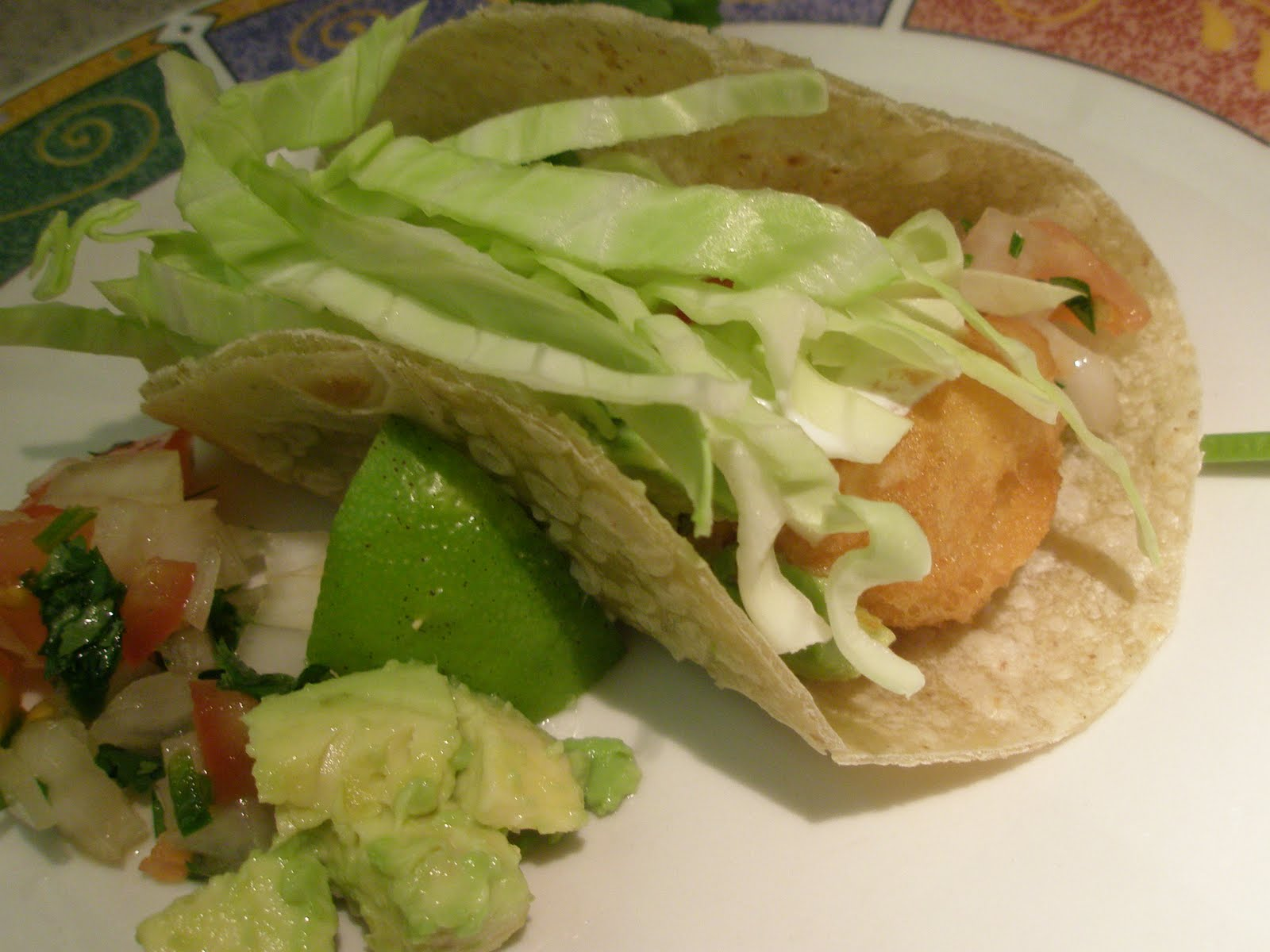 Harmony and dinner gluten free beer battered fish tacos for Fish taco batter