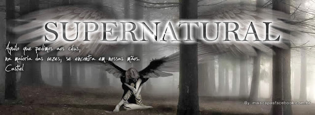 capa para facebook abertura supernatural9 com frase do castiel.
