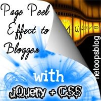 page peel for blogger
