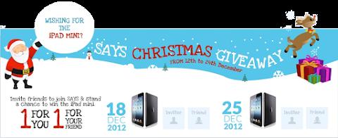 Says Christmas Giveaway