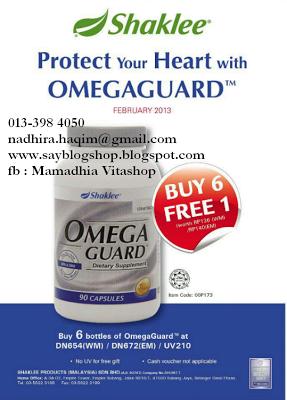 Percuma, Omega Guard Shaklee, Rebate