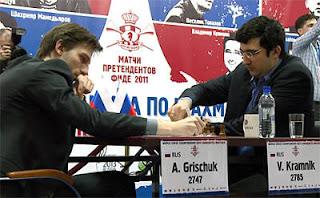 Echecs à Kazan : la demi-finale 100% russe entre Vladimir Kramnik (2785) et Alexander Grischuk