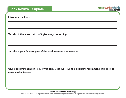 report writing template for high school students