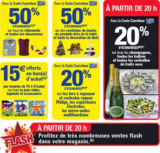 La nocturne des magasins Carrefour le 19/12 : jusqu'à -50% !