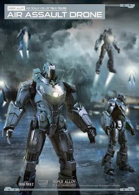 Play Imaginative Super Alloy Iron Man 2 Hammer Drones - Air Assault Drone Figure