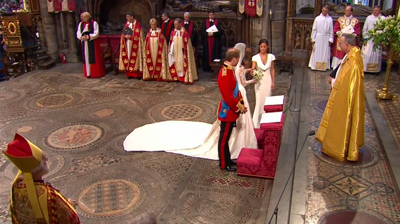The weds, flowers at the altar. YouTube 2011.