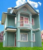 Foto de diseño de casa verde agua