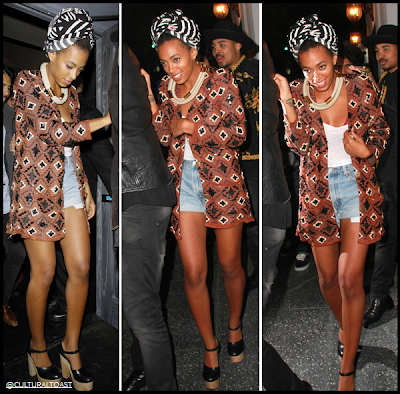 Solange Knowles in Opening Ceremony Oversized Embellished Cardigan