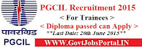 PGCIL Recruitment 2015.