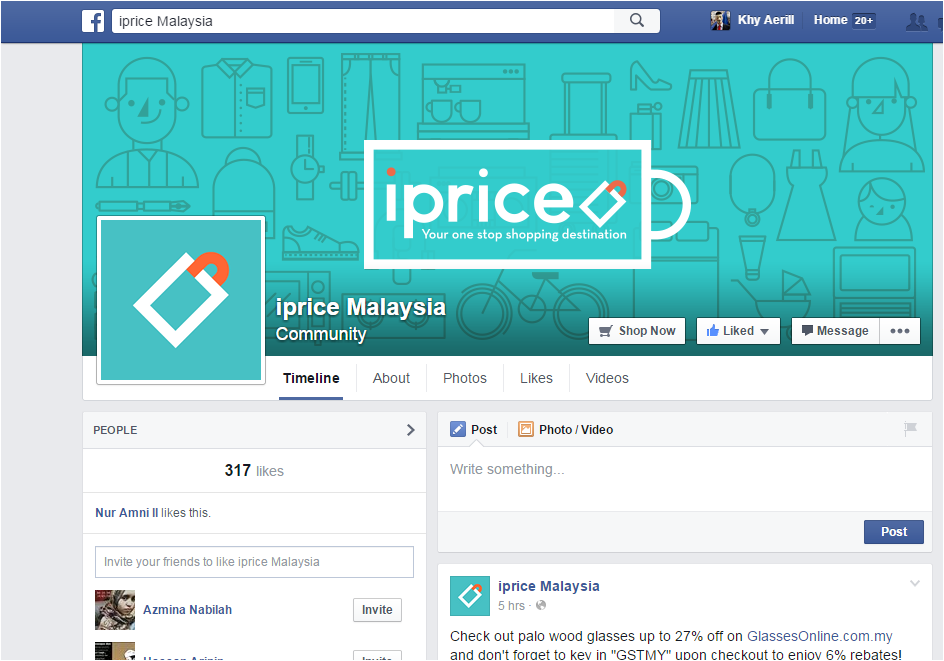 facebook, iprice , murah