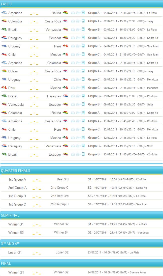 ... LIVE Copa America 2011 Coverage, TV Schedule and Stream TV online