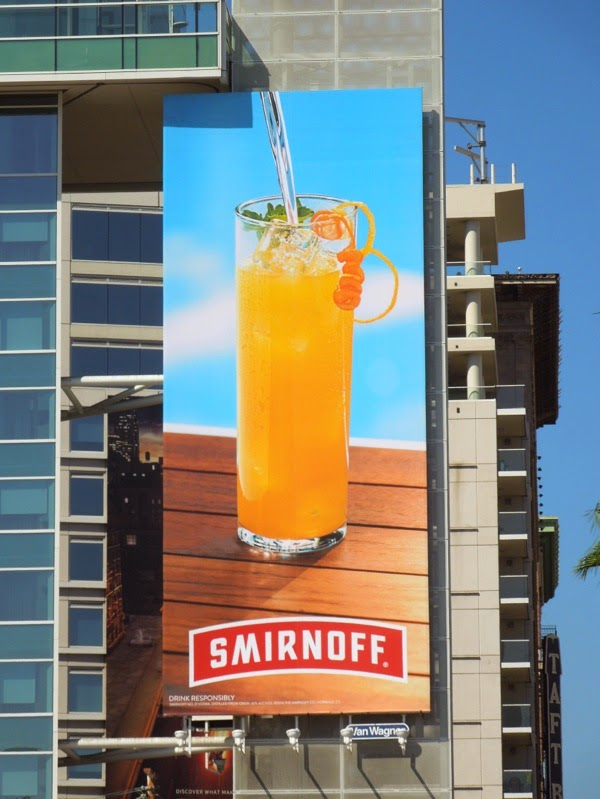 Smirnoff Vodka Exclusively for everybody cocktail billboard