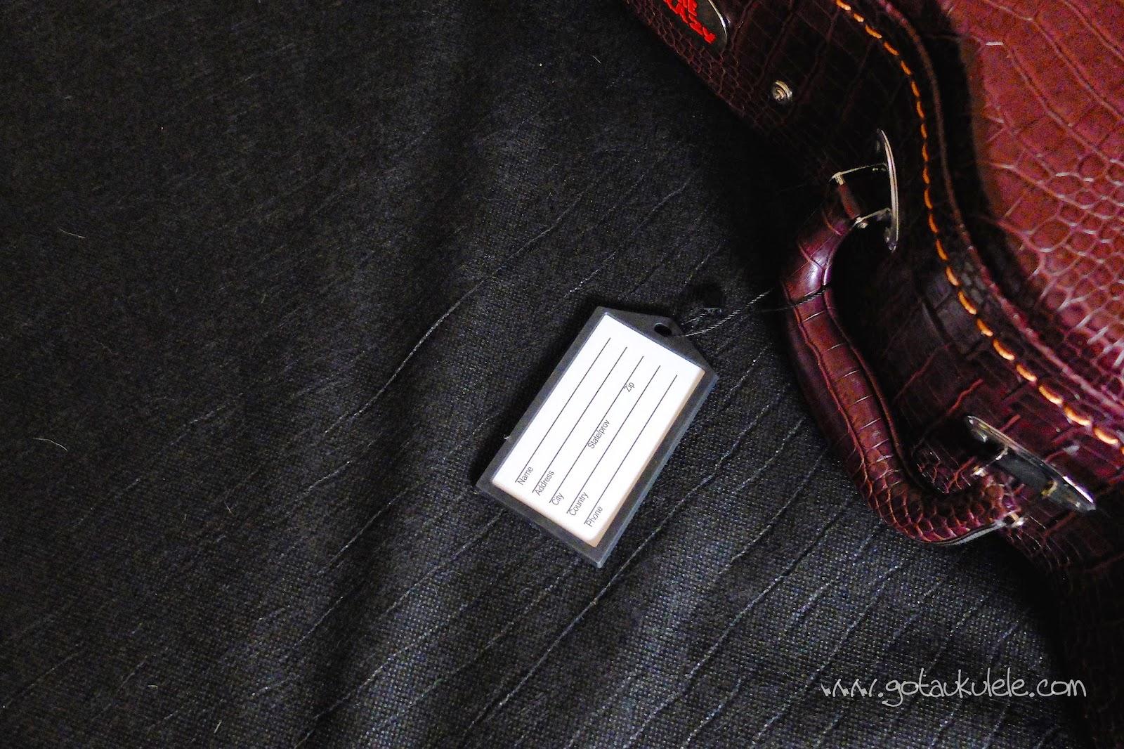 Kala Uke Crazy hard ukulele case ID tag