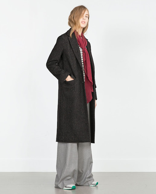 zara maxi coat, zara long wool coat, zara brown wool coat, zara dark green coat,