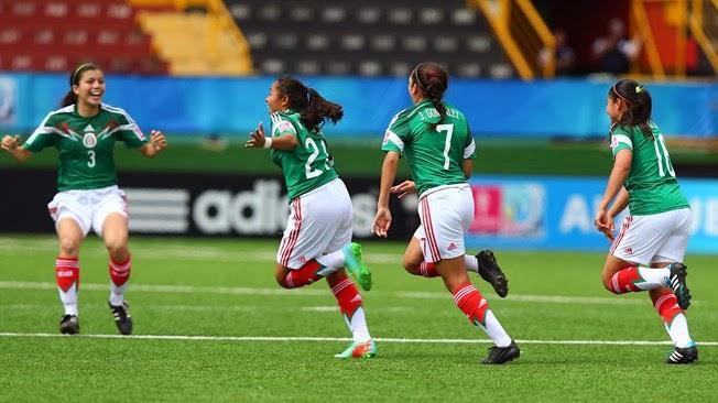 Copa Mundial Femenina Sub-17 de la FIFA Costa Rica 2014: México 4-0 Colombia | Ximinia