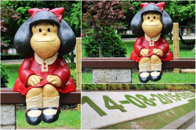 Escultura de Mafalda de Pablo Irrgang en el Campo de San Francisco de Oviedo