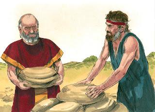 Jacob and Laban setting up Galeed