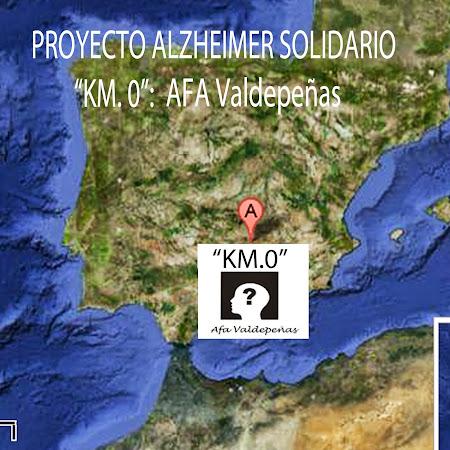 "AFA VALDEPEÑAS: ""KM.0"" DEL PROYECTO ""ALZHEIMER SOLIDARIO"""
