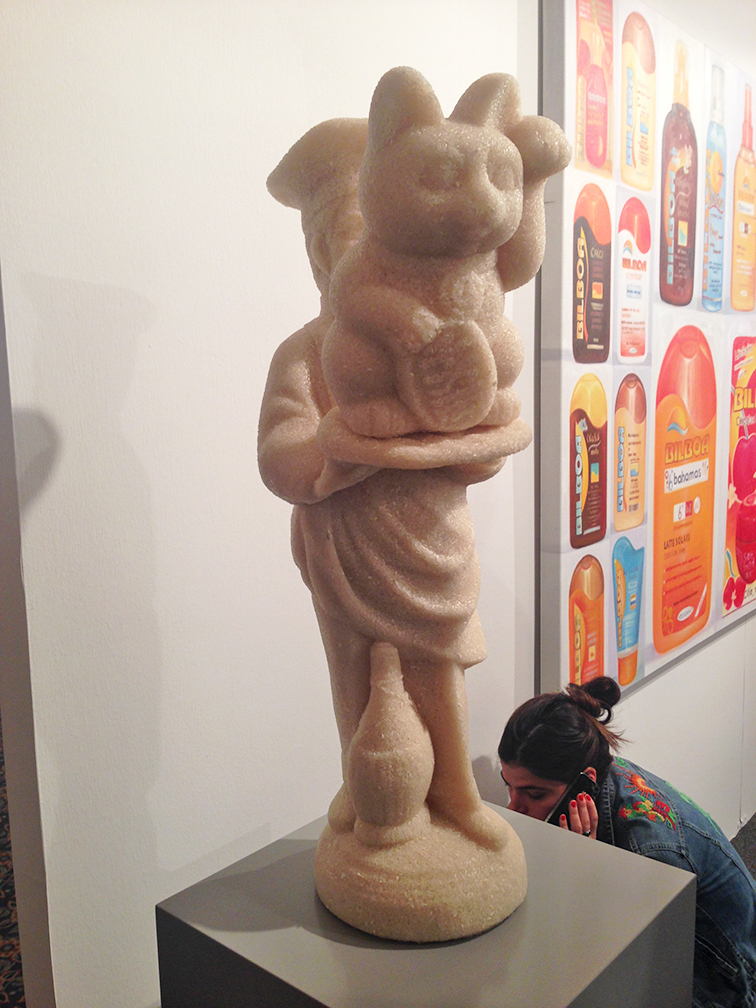 Rice Statue, Fashion Over Reason at Art Basel Miami 2014, COS chambray shirtdress, South Beach